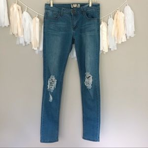 Boohoo Low Rise Skinny Jeans Light Wash